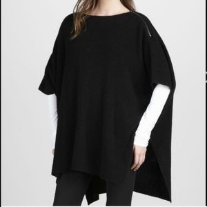 NWOT Vince Wool & Cashmere Zippered Poncho
